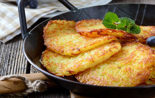 Crêpes de pommes de terre maison très moelleux