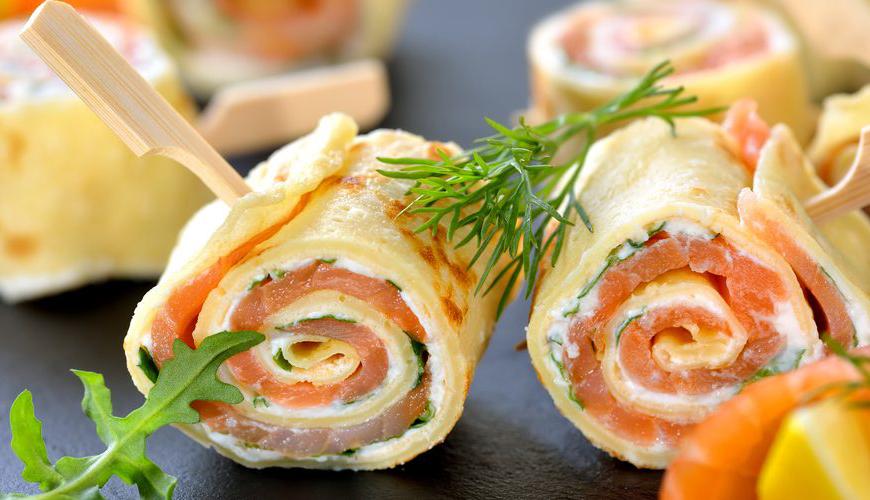 Roulés de saumon au fromage frais idéal pour noël