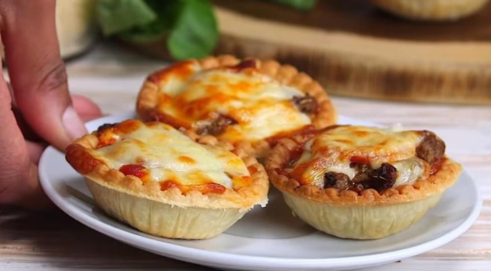 Bouchées : Les Tartelettes à la pizza carnivore