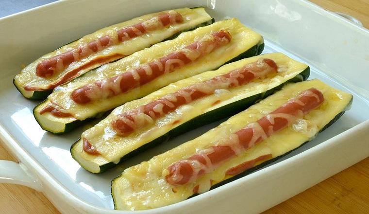 Recette courgettes hot-dog très savoureux