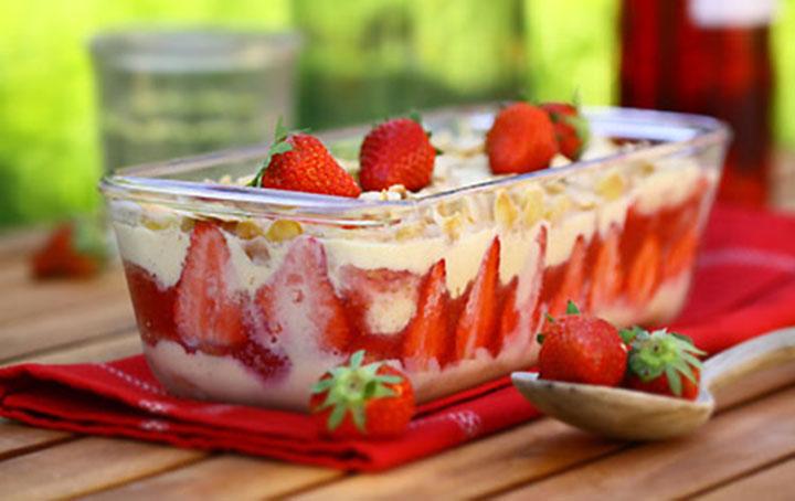 Pudding à la fraise un dessert vraiment exquis