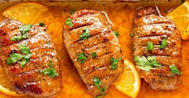 Magret de canard à l'orange au vinaigre balsamique