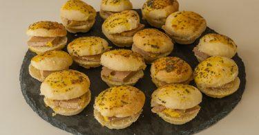 Minis hamburgers au foie gras un apéritif maison
