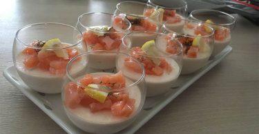 Panna cotta au saumon fumé recette apéro