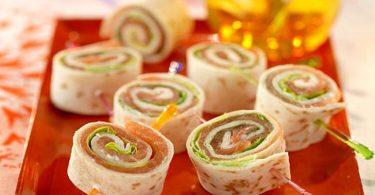 Recette galette roulée au saumon très facile