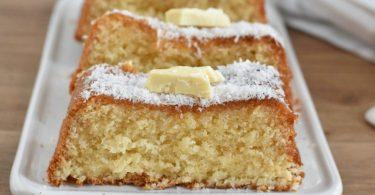 Cake à la noix de coco et au chocolat blanc