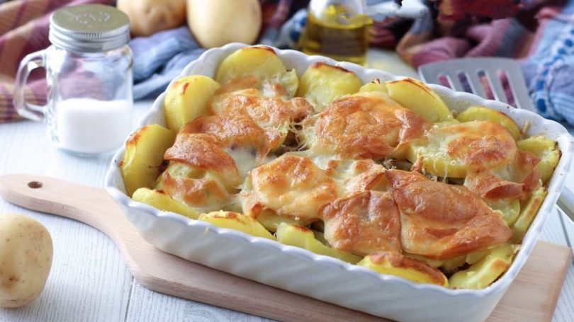 Gratin de chou-fleur et de pommes de terre