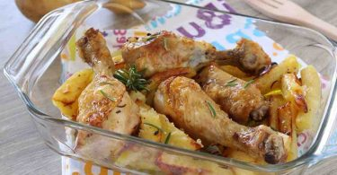Poulet rôti aux pommes de terre recette facile