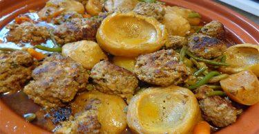 Tajine au poulet et boulettes de kefta