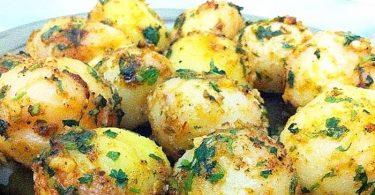 Petites pommes de terre à l'ail et aux herbes recette facile