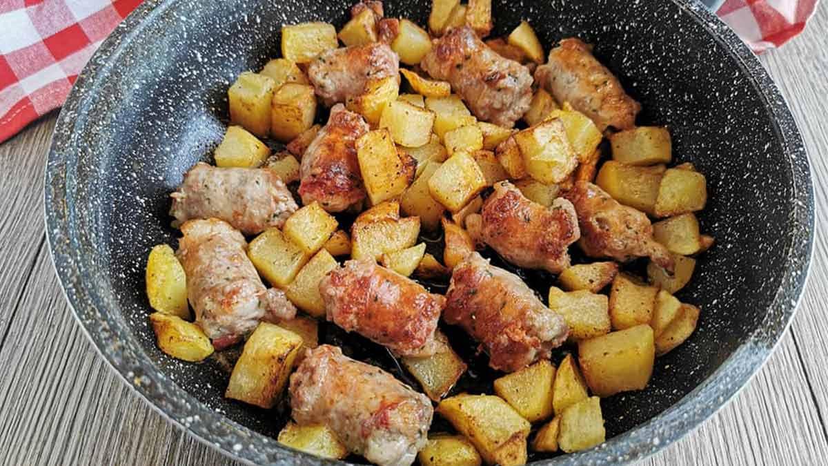 Saucisses et pommes de terre recette facile