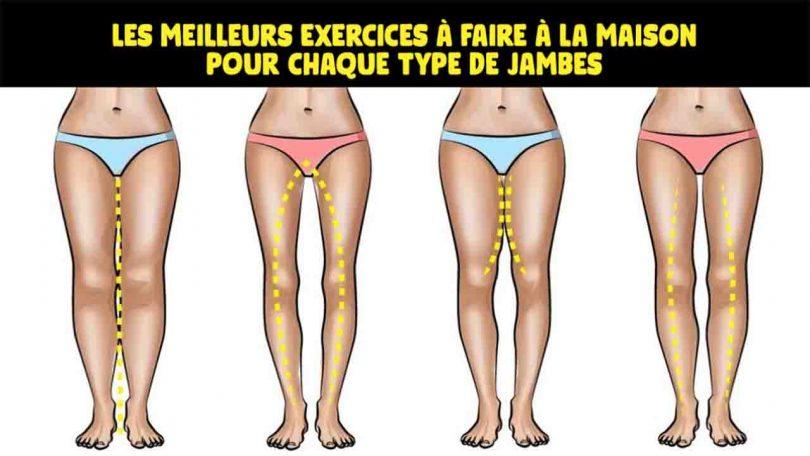 Les meilleurs exercices à faire à la maison pour chaque type de jambes