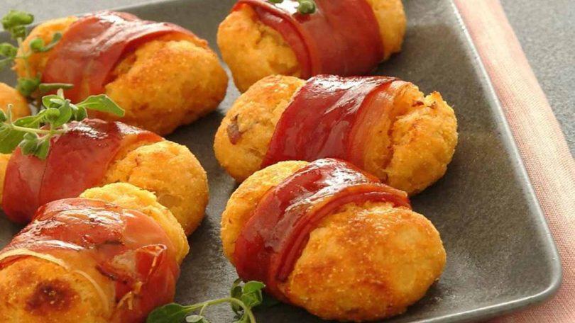 Croquettes de patates douces au jambon cru fumé