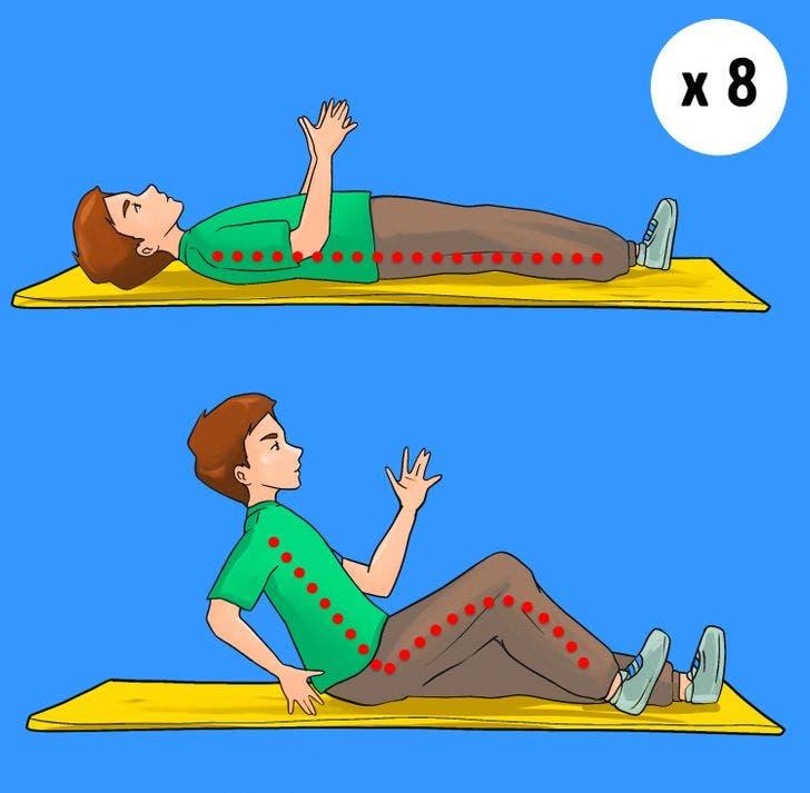 8 exercices qui brûlent rapidement la graisse du ventre