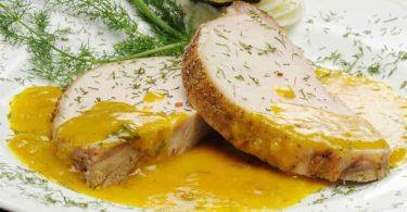 Filet de porc à la bière à la moutarde et au miel