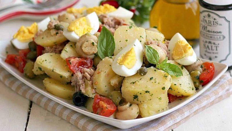 Salade pommes de terre aux champignons