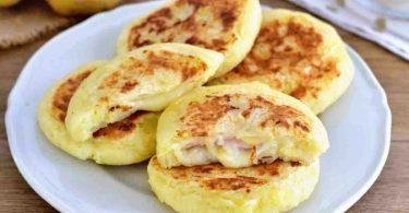 Escalopes de pommes de terre farcies au jambon
