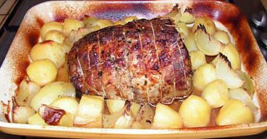 Recette rôti de porc à la boulangère