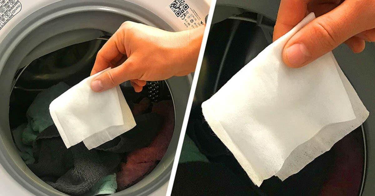 Voila pourquoi vous devez mettre une lingette humide dans votre machine à laver
