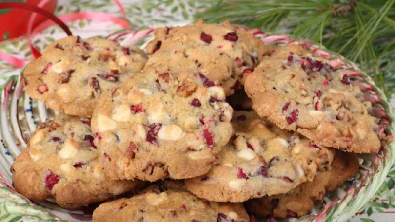 Cookies au chocolat blanc et aux framboises