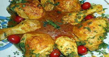Cuisses de poulet a la pate de curry rouge