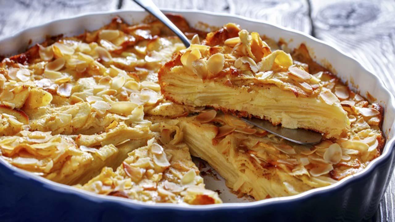 Gâteau invisible aux pommes, léger et fondant !
